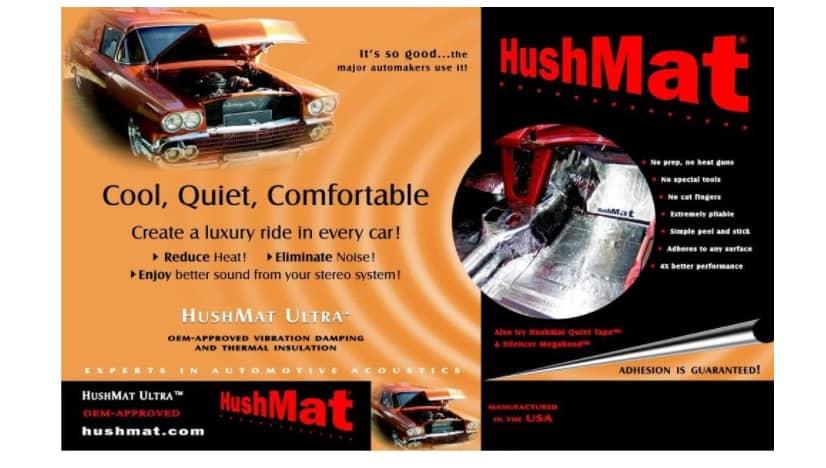 HushMat 10400 Ultra Black Foil Floor Kit With Damping Pad