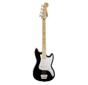 Squier by Fender Bronco Bass Black with Maple Fingerboard